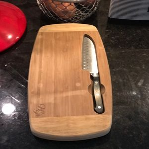Wood Cutting Board with Knife 🔪